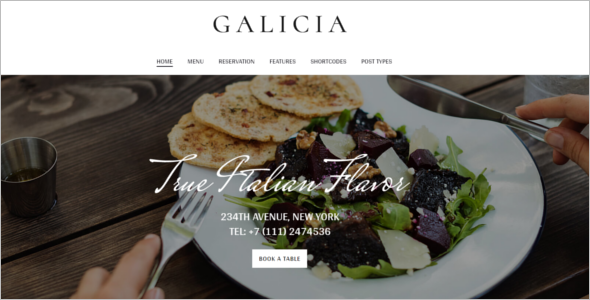 Beautiful Cafe Website Template