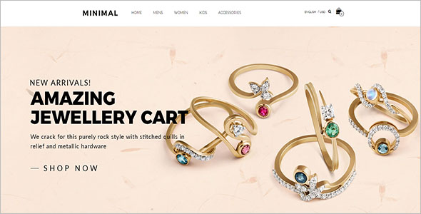 Beautiful Jewelry Bootstrap Template
