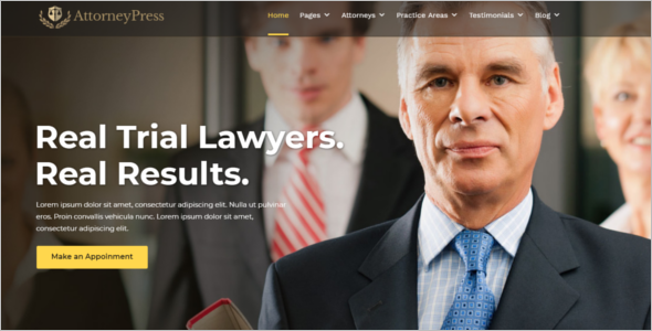 Best Attorney Website Template