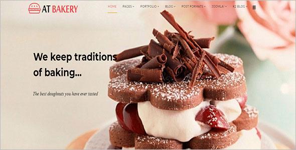 Best Cake Shop Joomla Template