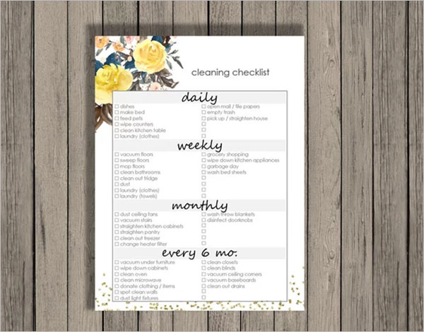 Best Cleaning Checklist Template