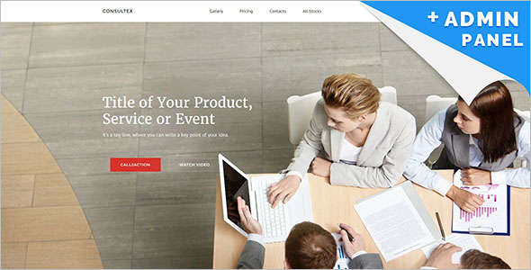 Best Consulting Landing Page Template