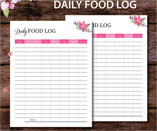 Best Daily Food Log Template