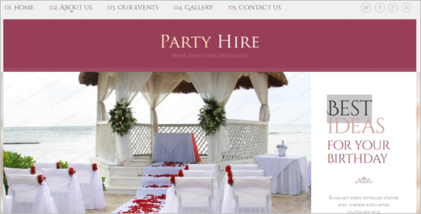 Best Event Website Design Template