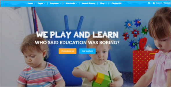 Best Kindergarten Website Template