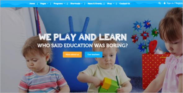 Best Kindergarten Website Template