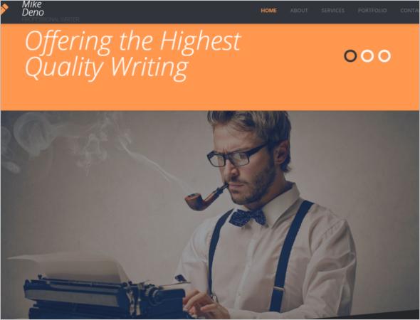 Best Writer Website Template