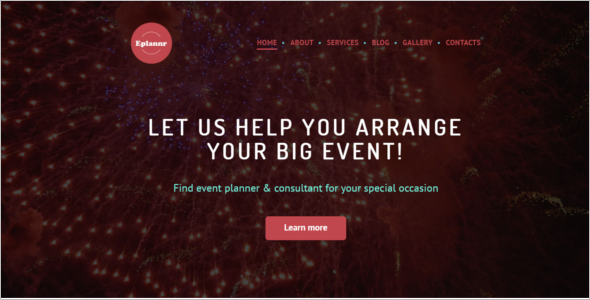 Big Event Management Website Template