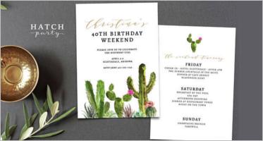 Birthday Itinerary Templates