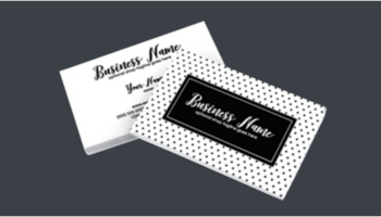 Black & White Business Card Templates
