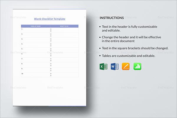 Blank Hiring Checklist Template