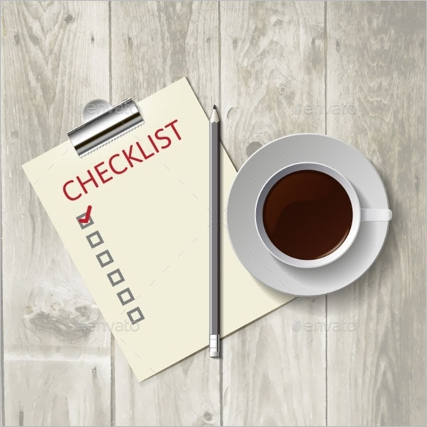 Blank Checklist Template For Business
