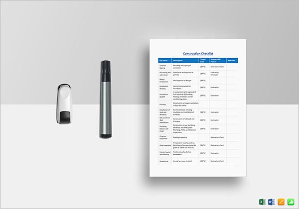 Blank Checklist Template For Teacher