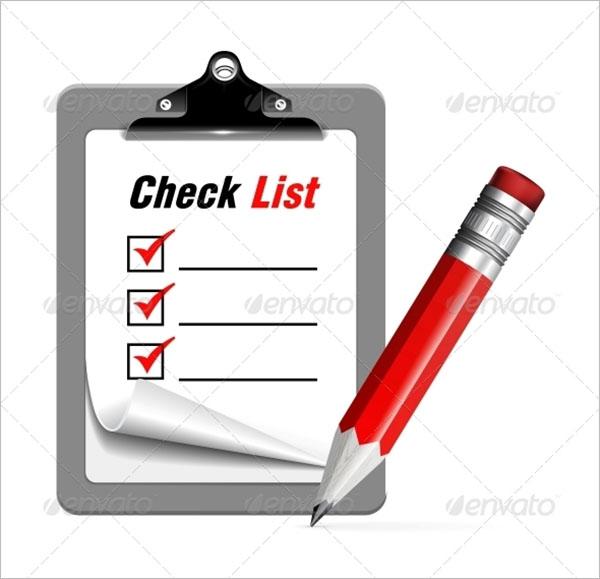 Blank Checklist Vector Template