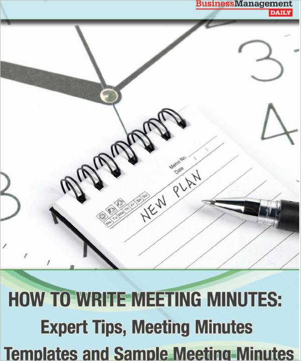 Blank Corporate Meeting Minutes Template