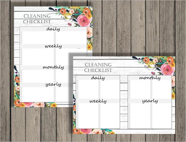 Blank Daily Cleaning Checklist Template