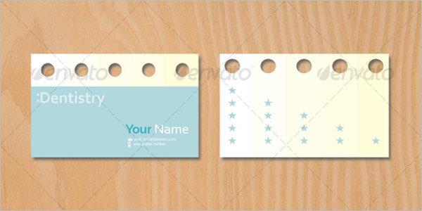 Blank Dental Business Card Template