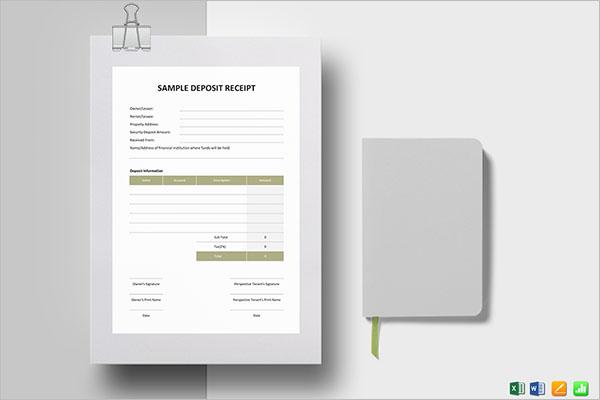 Blank Deposit Receipt Template