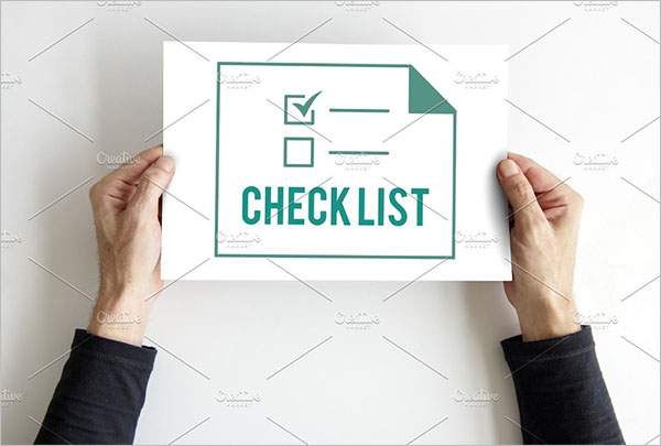 Blank Event Checklist Template