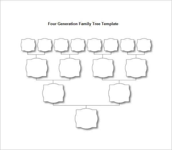 Blank Family Tree Diagram Template