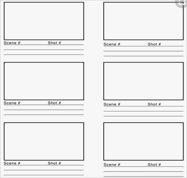 Blank Movie Storyboard Template