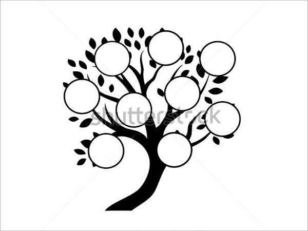 Blank Photo Family Tree Template