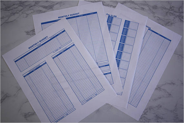 Blank Student Budget Template