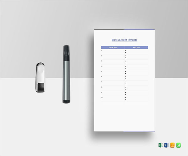 Blank Wedding Checklist Template