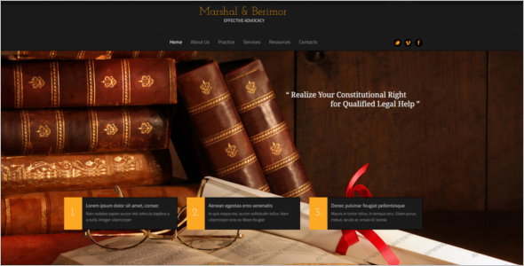 Bootstrap Law Firm Website Template
