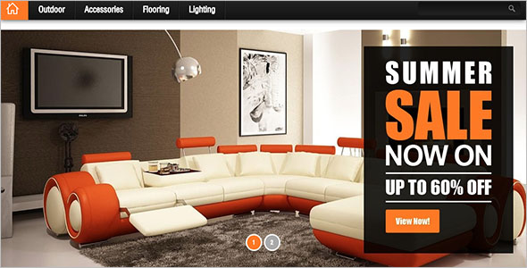 Bootstrap Template For Interior Design