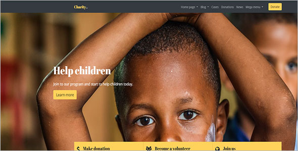 Bootstrap Template For Non-Profit