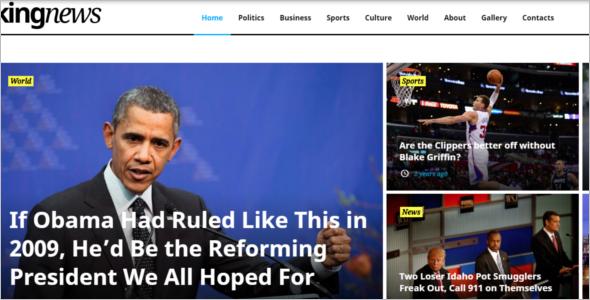 Breaking News Website Template