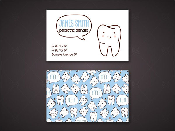 Business Card For Dental Care