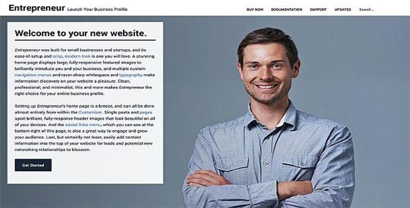 Business & Entrepreneurs WordPress Theme