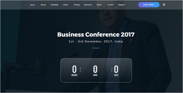 Business Event Website Template
