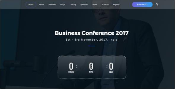 Business Event Website Template