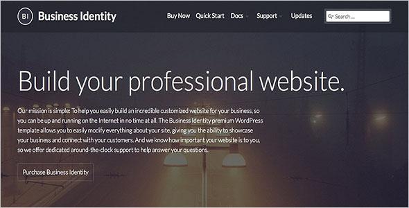 Business Identity WordPress Theme