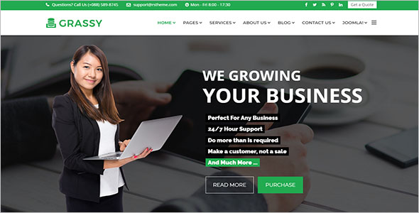 Business Services Joomla Website Template