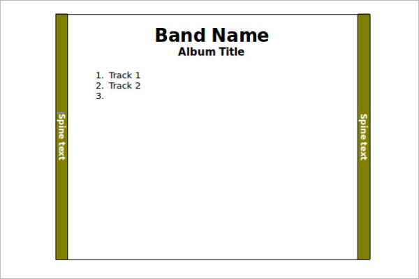 CD Case Template Word Download