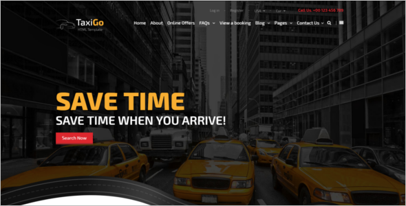 Cab Service Website Template