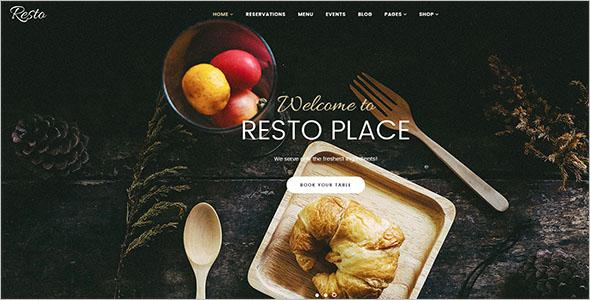 Cafe & Restaurant VirtueMart Theme