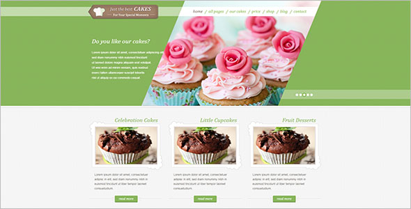 Cake Bakery HTML template