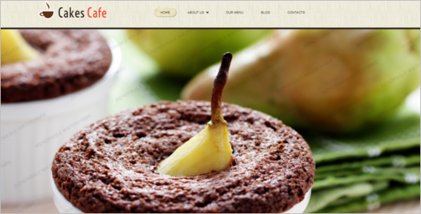 Cake Cafe Website Template