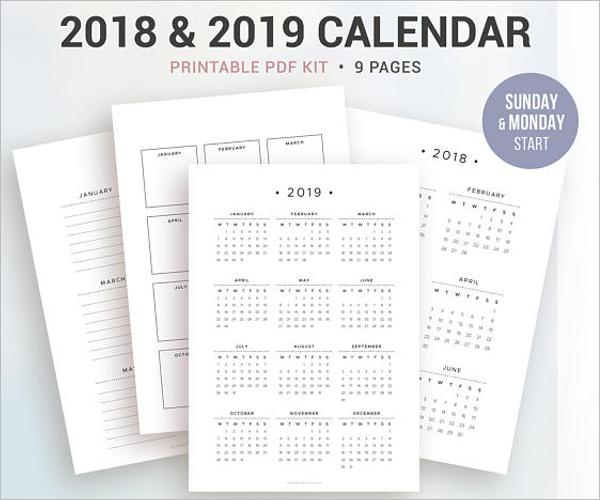 Calendar Agenda Template Word