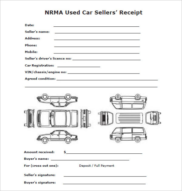 Car Sale Deposit Receipt Template Download