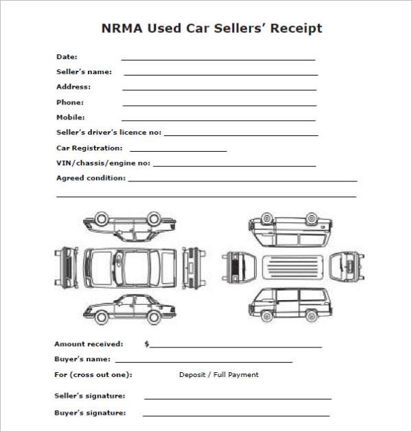Car Sale Deposit Receipt Template Download
