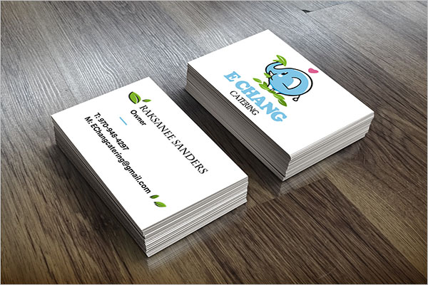 Catering Business Card Example