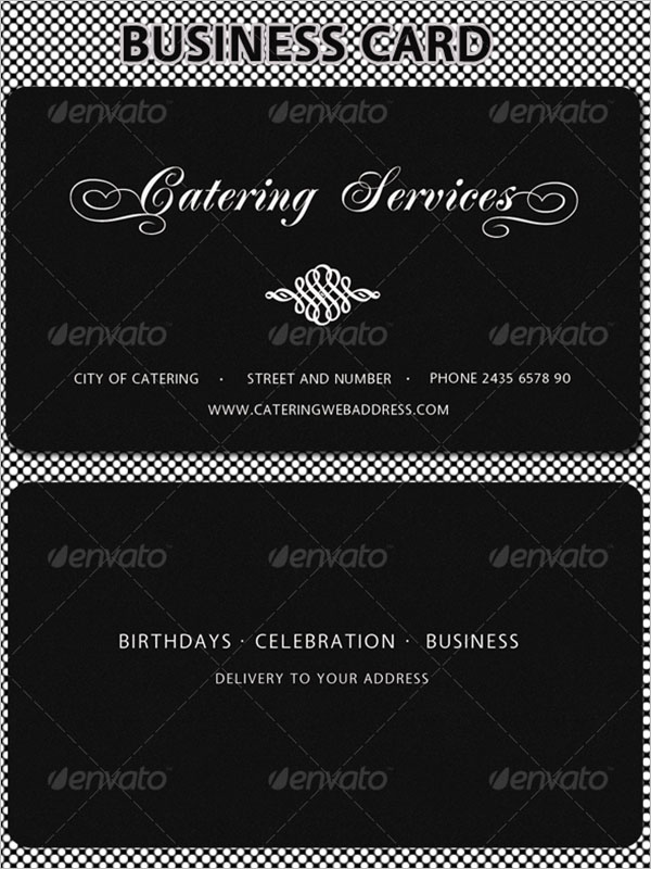 Catering Service Business Card Front & Back