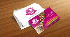 Catering Service Business Card Front Sample