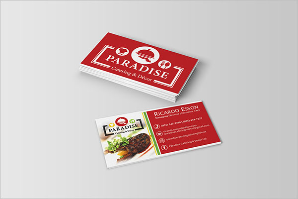 Catering Services Visiting Card Idea